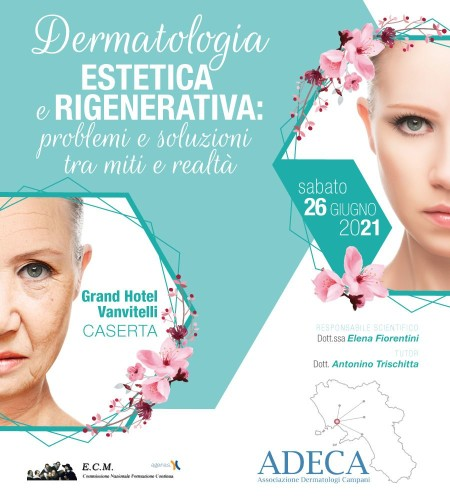 Locandina Dermatologia estetica e rigenerativa 26 giugno 2021